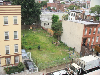 A vacant lot in Bed-Stuy, Brooklyn