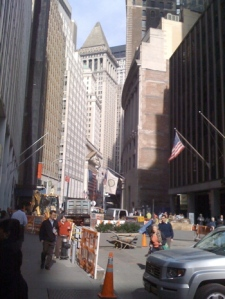 The New York Stock Exchange on Wall St