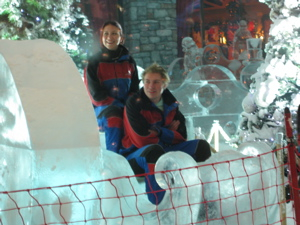 Westerners working at the ski slopes in the Emirates Mall
