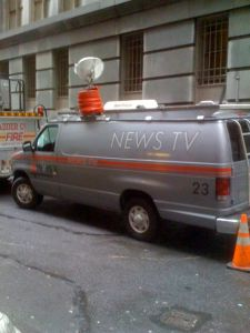 Fake news van