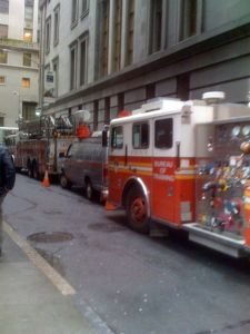 Fake fire trucks