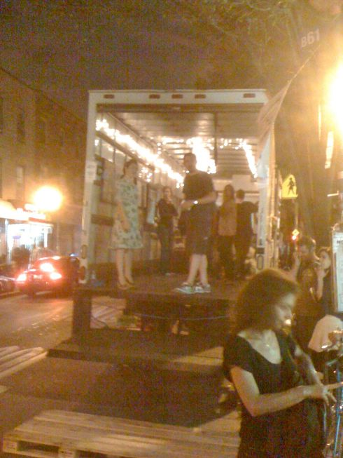 Mobile art truck on Bedford and N 7th