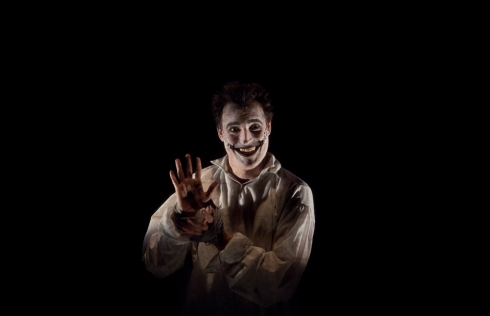 Dave Droxler as The Man Who Laughs (photo Carrie Leonard)