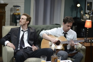 Josh Evans as Eli and JD Taylor as Walter in Rubber Ducks and Sunsets (photo, Randy Morrison)