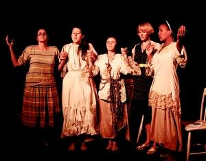 Kathleen Goldpaugh, Clemmie Evans, Catriona Rubenis-Stevens, Emily Meier & Amina Omagbemi (Photo by Jane Stein)