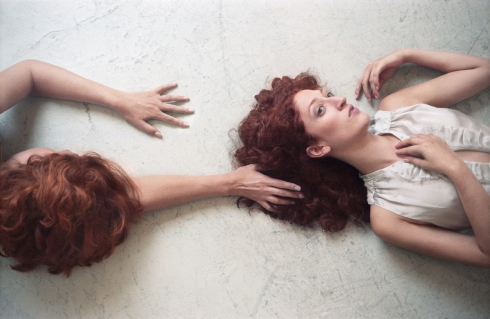 Elizabeth Simmons as Marilyn and Diana Beshara as Jean in David's RedHaired Death Photo credit Erin Mulvehill